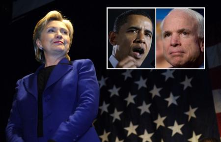 美国民主党总统竞选人希拉里呼吁布什抵制北京奥运会。