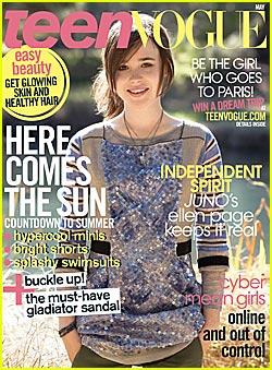 艾伦-佩吉登《Teen Vogue》封面
