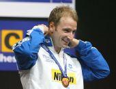 图文:08短池世锦赛男200米自 罗萨利诺获铜牌