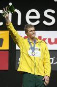图文:08短池世锦赛男200米自 默克挥手致意
