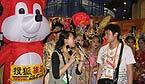 搜狐旅游在陕西展台举办的奥运互动