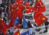 """在美华人力挺北京奥运――正义的""""红旗之师"""""""