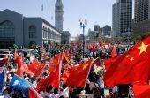 """在美华人力挺北京奥运――""""红旗之师""""遍布"""