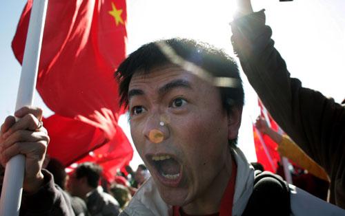 在美华人力挺北京奥运——正义的呐喊
