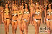 2008国际旅游小姐--众佳丽展示泳装