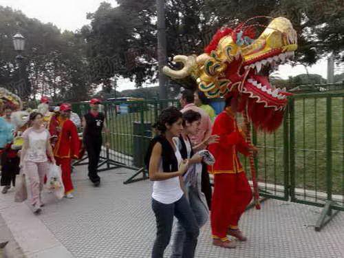 外国人舞中国龙