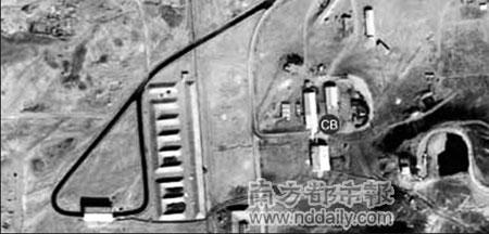 美国卫星拍到的、据称是伊朗远程导弹基地的照片。