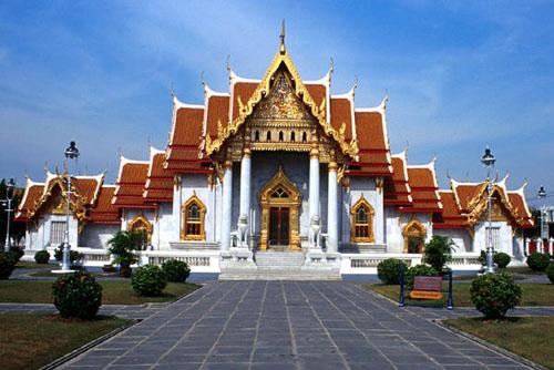 图文:曼谷旅游名胜 大理石寺