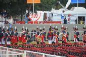 组图:布城奥运圣火传递 仪仗队现场表演