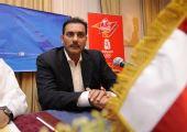 图文:马斯喀特举行火炬手大会 前印度板球队长