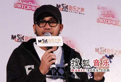 2007中国top排行榜领奖瞬间 张震岳