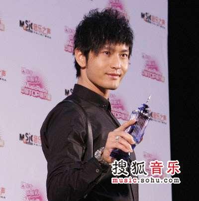 2007中国top排行榜领奖瞬间 黄晓明