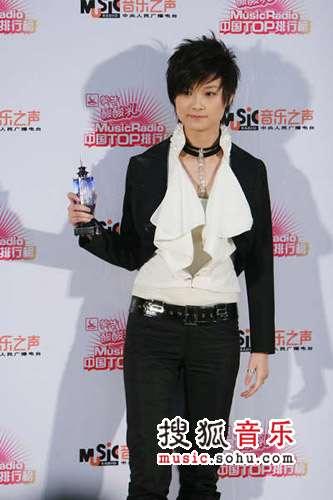 2007中国top排行榜领奖瞬间 李宇春