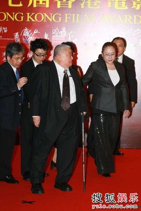 王天林/图:香港电影金像奖红毯/王天林与斯琴高娃