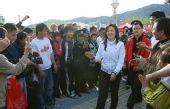图文:延安举行大篷车奥运项目体验活动