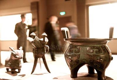 鸿山遗址博物馆展品。(陈大春摄)