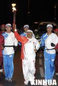 组图:奥运圣火传递活动在马斯喀特举行
