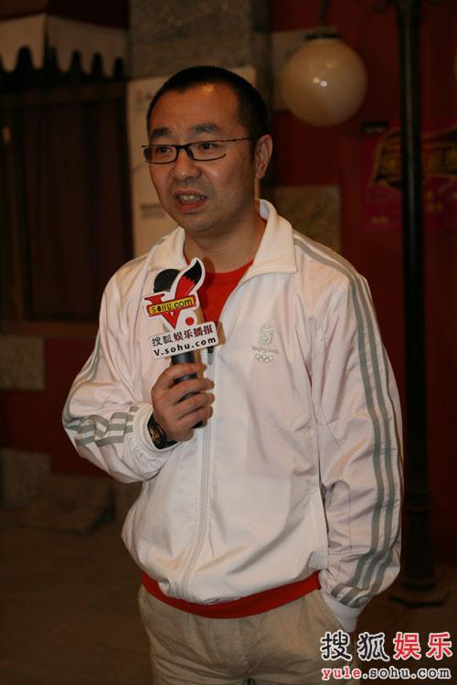 刘仪伟接受搜狐娱乐采访
