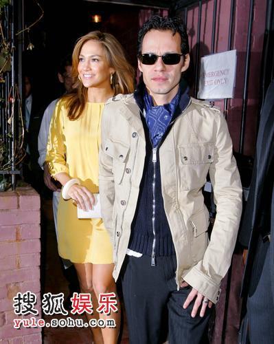 珍妮佛·洛佩兹(Jennifer Lopez) 和老公马克·安东尼(Marc Anthony)
