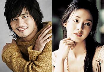 张东健(左)和金泰熙当选为韩国2008年上半年最受欢迎的男女演员