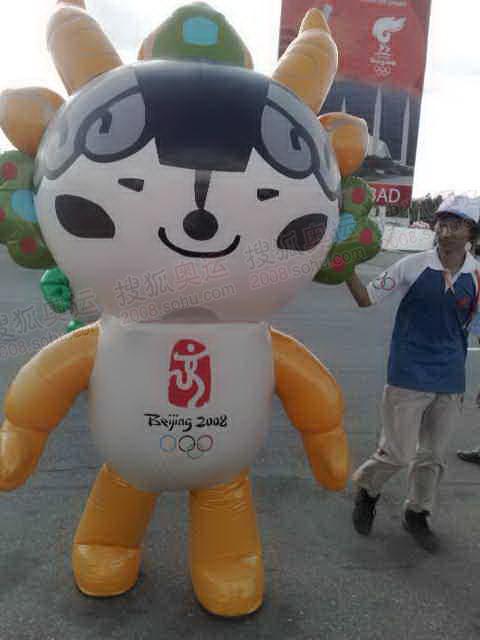 北京奥运福娃进驻现场