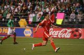 图文:[热身赛]国足0-1墨西哥 曲波高速启动
