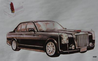 原长春第一汽车制造厂研制出第一辆红旗轿车的图形.新文化报记者白桄摄