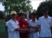 组图:新德里火炬传递现场 华人力挺北京奥运