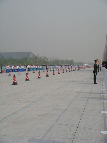 图文:鸟巢首秀男子20公里竞走 奥运景观大道