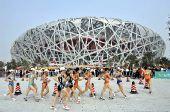 图文:女子20公里竞走刘虹夺冠 跑入鸟巢赛场