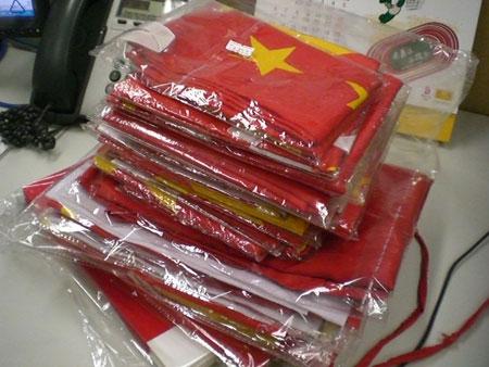 网友捐赠的国旗