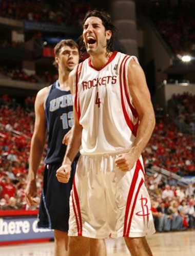 图文:[NBA]火箭战爵士 斯科拉咆哮