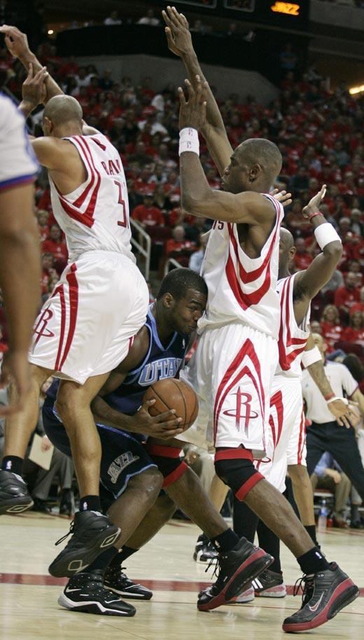 图文:[NBA]火箭战爵士 火箭铁桶阵