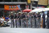组图:曼谷警力到位保证圣火传递完美收官