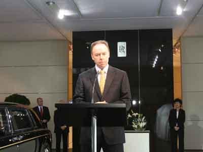劳斯莱斯汽车有限公司董事长兼首席执行官伊恩•罗伯森先生