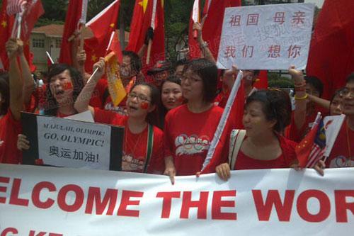华人热情高涨
