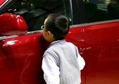 娃娃看车展