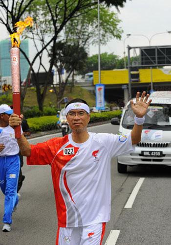 风采 火炬手/马来西亚圣火传递 火炬手风采