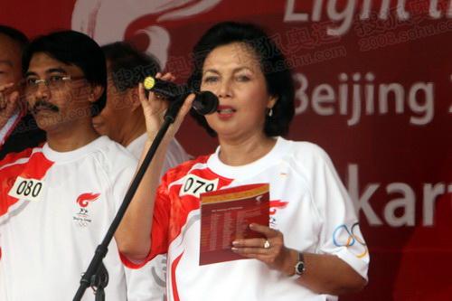 印度尼西亚奥委会主席莉达代表国际奥委会主席罗格致辞