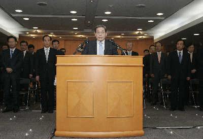 李健熙/66岁的三星集团会长李健熙昨日在三星总部通过电视直播公开宣布...