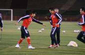 图文:[训练]米卢探班国足 队员积极备战