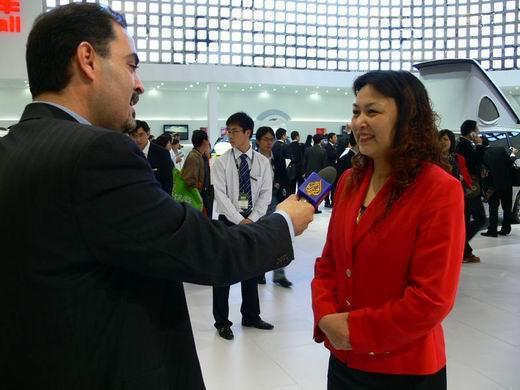 半岛电视台记者专访