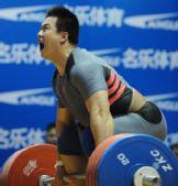 图文:全国锦标赛105公斤级比赛 王海龙怒吼