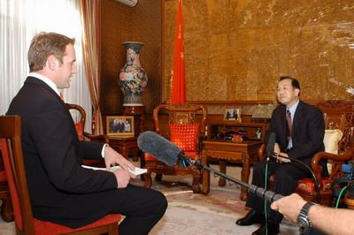 中国驻澳大利亚大使章均赛接受澳主流媒体采访
