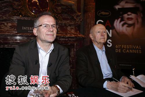 主席吉尔-雅各布与艺术总监蒂埃里-弗雷莫