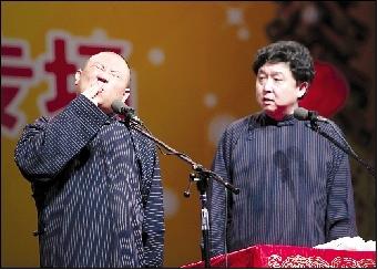郭德纲与老搭档于谦将重新演绎侯宝林的4个经典段子。(资料图片)记者 任峰涛 摄