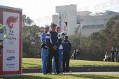 组图:奥运圣火在堪培拉传递 火炬传递全记录