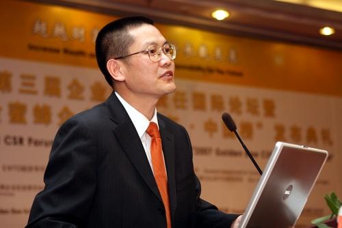 图:《WTO经济导刊》副社长 金蜜蜂企业社会责任发展中心主任 殷格非