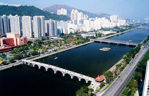 香港火炬传递路线解读- 香港沙田城门河