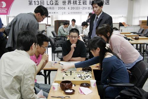 图文:LG杯预选精彩纷呈 李玟真负王垚局后复盘